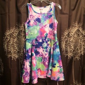 JUSTICE Floral Watercolor Girls Swing Dress 12